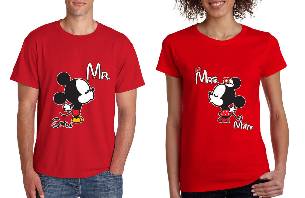 Mr soul Mrs mate kiss couples shirts Valentines day - ALLNTRENDSHOP - 1