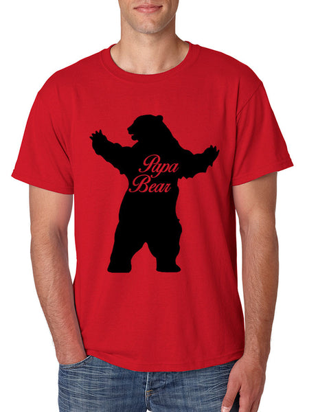 Men's T Shirt Papa Bear Family Shirt For Dad Xmas Cute Gift - ALLNTRENDSHOP - 2