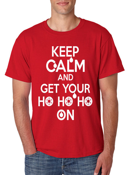 Men's T Shirt Keep Calm And Get Your Ho Ho Ho Ugly Christmas Top - ALLNTRENDSHOP - 2
