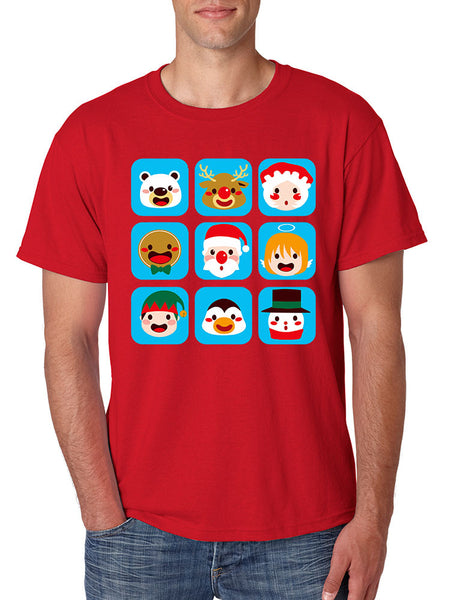 Men's T Shirt Christmas Icons Cool Ugly Xmas Symbols Shirt - ALLNTRENDSHOP - 1