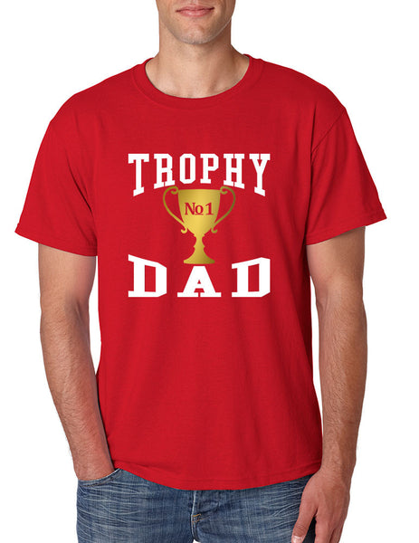 Men's T Shirt Trophy Dad Love Father Shirt Daddy Cool Gift - ALLNTRENDSHOP - 5