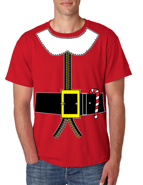 Men's T Shirt Elf Suit Santa's Elves Christmas Shirt Xmas Gift - ALLNTRENDSHOP - 1