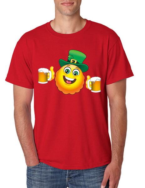 Irish smiling Emoji ST patricks men t-shirt - ALLNTRENDSHOP - 5