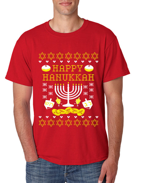 Men's T Shirt Happy Hanukkah Menorah Jewish T Shirt - ALLNTRENDSHOP - 3