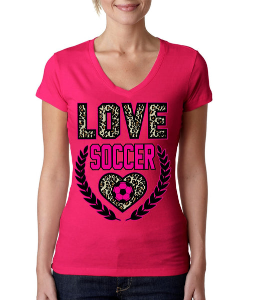 Love Soccer Leopard Womens Sporty V - ALLNTRENDSHOP - 4