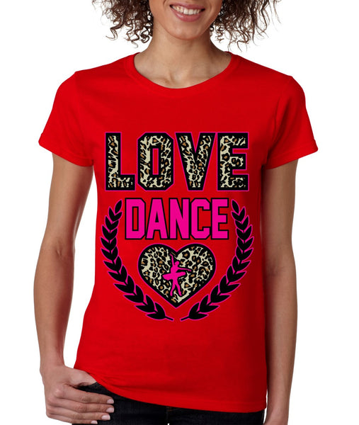 Love Dance Leopard womens T-Shirts - ALLNTRENDSHOP - 5