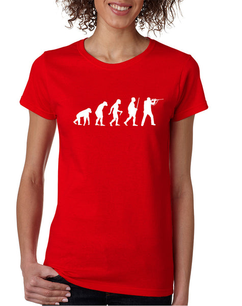 Women's T Shirt Hunting Evolution Funny Hunting Tee