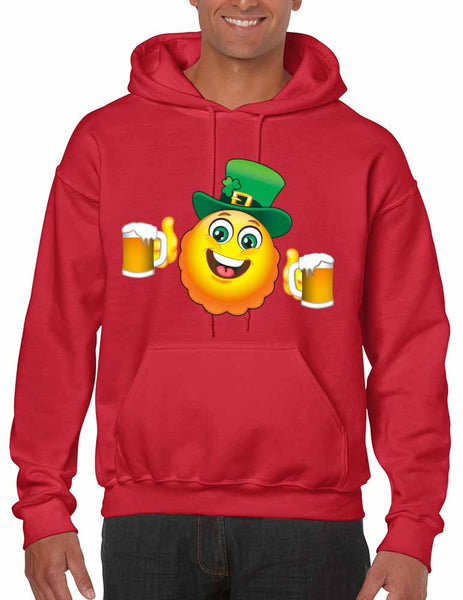 Irish smiling Emoji ST patricks men hooded sweatshirt - ALLNTRENDSHOP - 5