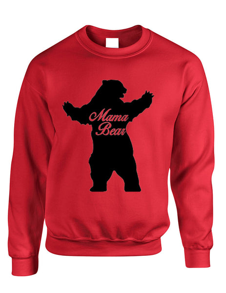Adult Crewneck Mama Bear Family Top For Mom Xmas Cute Gift - ALLNTRENDSHOP - 3