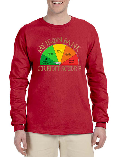 Men's Long Sleeve My Iron Bank Credit Score Lannister Shirt