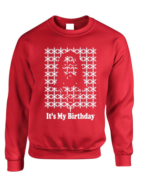 Its my birthday Jesus womens long sleeve sweatshirt - ALLNTRENDSHOP - 3