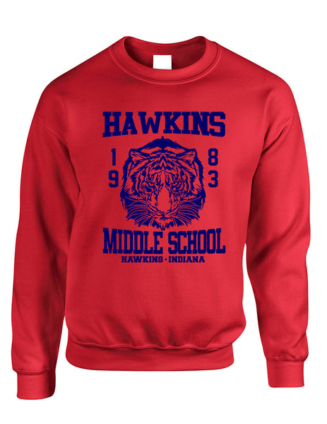 Adult Crewneck Sweatshirt Hawkins Middle School 1983 - ALLNTRENDSHOP - 2
