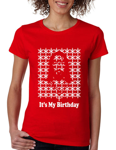 Its my birthday Jesus Womens T-shirt - ALLNTRENDSHOP