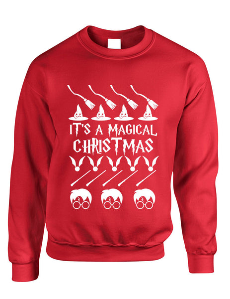 Adult Crewneck It's A Magical Christmas Ugly Sweater Cool Gift - ALLNTRENDSHOP - 2
