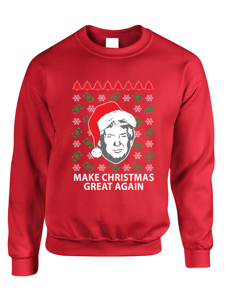 Adult Sweatshirt Donald Trump Make Christmas Great Again Ugly Xmas - ALLNTRENDSHOP - 2