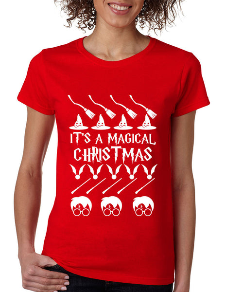 Women's T Shirt It's A Magical Christmas Ugly Christmas Sweater - ALLNTRENDSHOP - 2