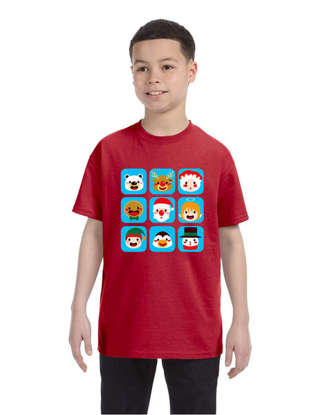 Kids T Shirt Christmas Icons Ugly Holiday Symbols T-Shirt - ALLNTRENDSHOP - 3