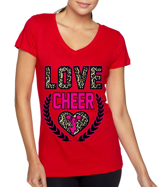 Love Cheer Leopard Womens Sporty V - ALLNTRENDSHOP - 3