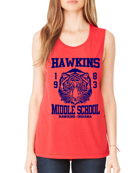 Women's Flowy Muscle Tank Hawkins Middle School 1983 - ALLNTRENDSHOP - 3