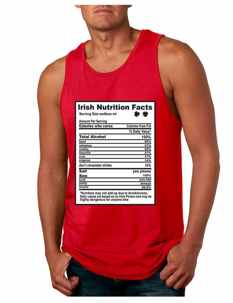 Irish nutrition facts St patrick men jersey tanktop - ALLNTRENDSHOP - 1
