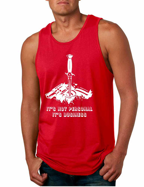Men's Tank Top It's Not Personal It's Business Humor Funny Top - ALLNTRENDSHOP - 4