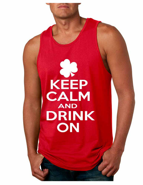Keep calm and drink on men Jersey Tanktop saint patricks day - ALLNTRENDSHOP - 1