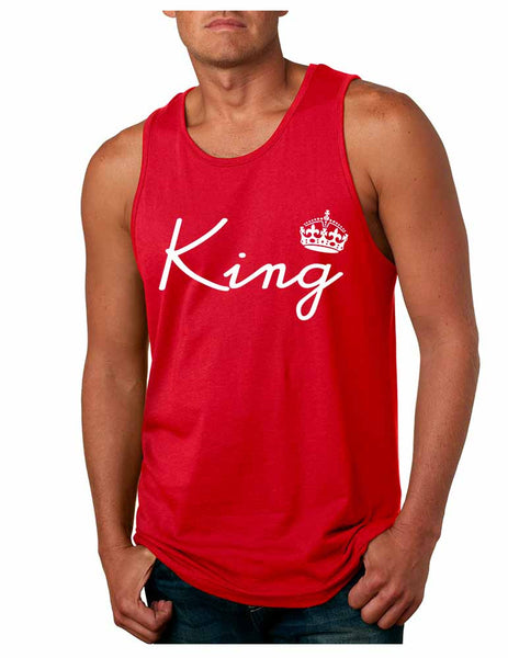 King with crown men jersey tank top - ALLNTRENDSHOP - 4