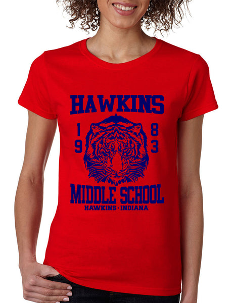 Women's T Shirt Hawkins Middle School 1983 - ALLNTRENDSHOP - 3