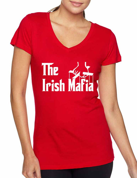 The Irish mafia Women sporty V Shirt saint patricks day - ALLNTRENDSHOP - 4