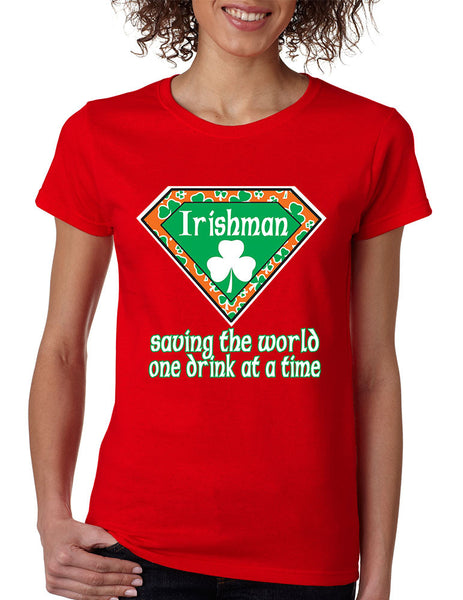 irishman saving the world st patricks women t-shirt - ALLNTRENDSHOP - 3