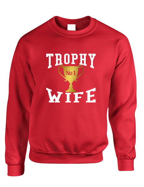 Adult Sweatshirt Trophy Wife Cool Xmas Love Holiday Gift - ALLNTRENDSHOP - 5
