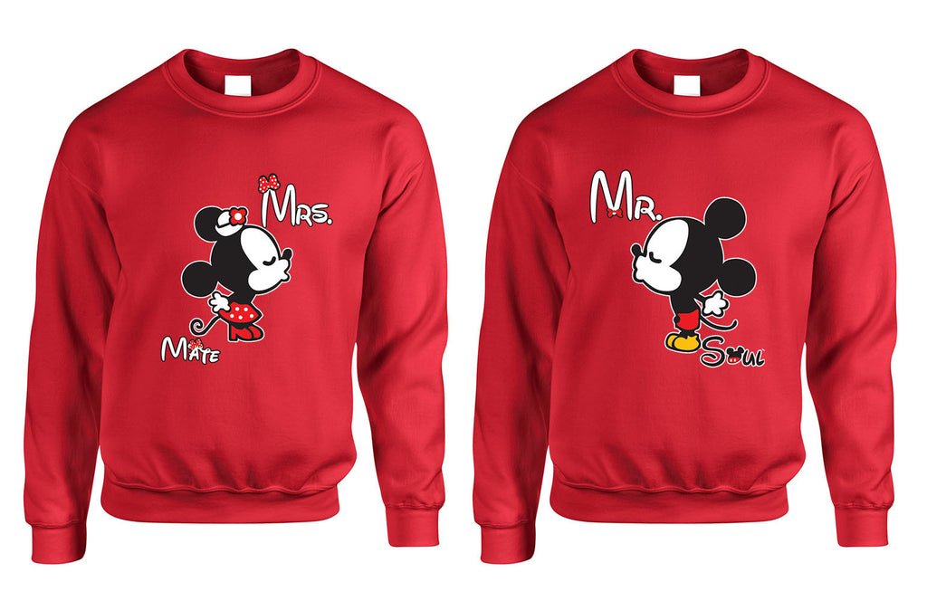 Mr soul Mrs mate kiss couples sweaters Valentines day - ALLNTRENDSHOP - 1