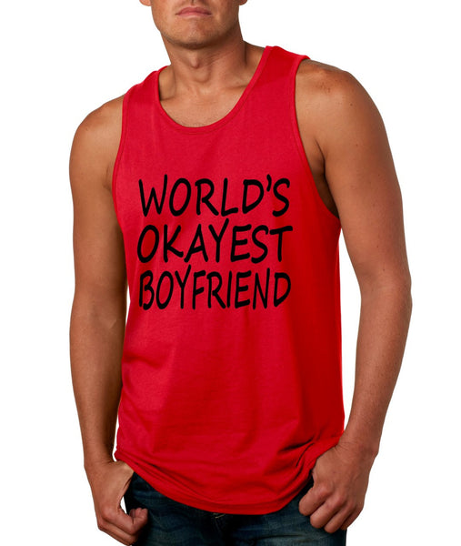 World's OKayest boyfriend men jersey tank top - ALLNTRENDSHOP - 3