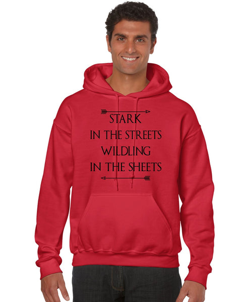 Stark in the streets wildling in the sheets men Hoodie - ALLNTRENDSHOP - 1