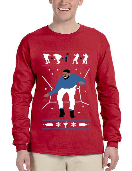 Men's Long Sleeve Hotline Bling Blue 1-800 Hotline Ugly Sweater - ALLNTRENDSHOP - 1