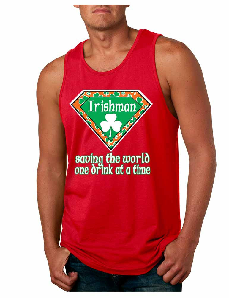 Irishman saving the world st patricks Men jersey tank - ALLNTRENDSHOP - 3