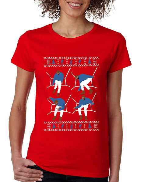 Women's T Shirt 4 1-800 Hotline Bling Ugly Xmas Sweater Holiday - ALLNTRENDSHOP - 3