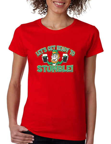 let`s get ready to stumble St patrick women t-shirt - ALLNTRENDSHOP - 3