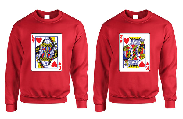 King and Queen matching couples sweatshirt Valentines day - ALLNTRENDSHOP - 4