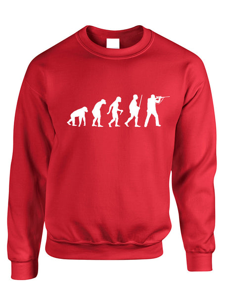 Adult Sweatshirt Hunting Evolution Funny Hunting Sweatshirt