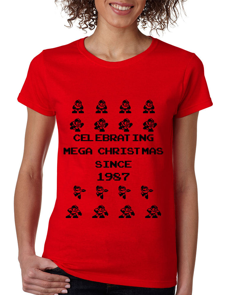 Women's T Shirt Celebrating Mega Christmas Ugly Sweater Gift - ALLNTRENDSHOP - 1