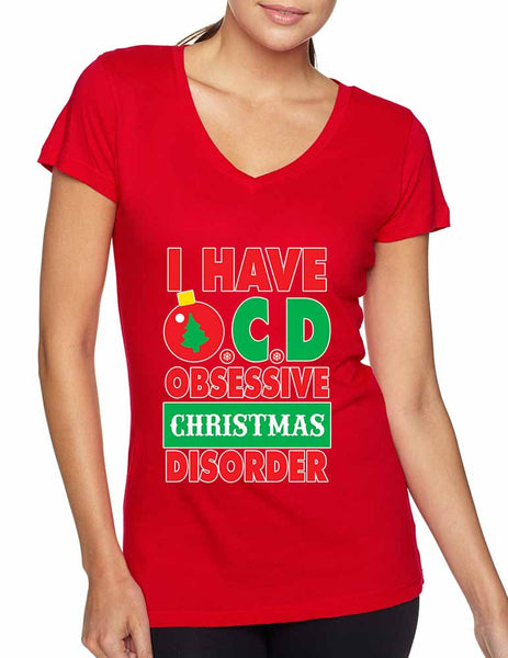 Obsessive christmas disorder Women's Sporty V - ALLNTRENDSHOP - 3