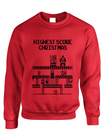 Adult Crewneck Highest Score Christmas Ugly Sweater Holiday Top - ALLNTRENDSHOP - 2