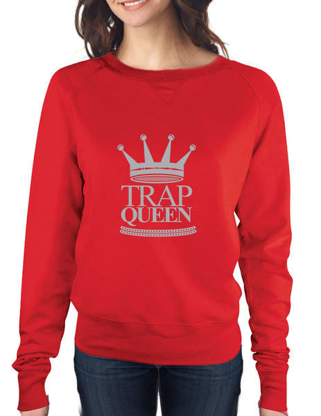 Trap Queen long sleeve Pullover women - ALLNTRENDSHOP - 3