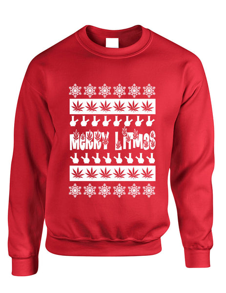 Merry Litmas bong woman sweatshirt - ALLNTRENDSHOP - 4