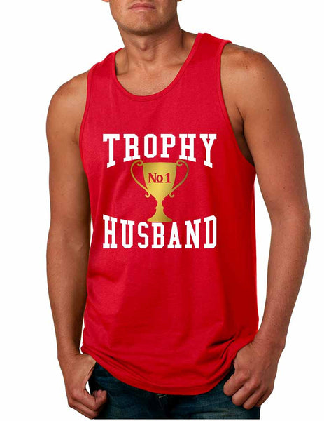 Men's Tank Top Trophy Husband Cool Xmas Love Family Gift Top - ALLNTRENDSHOP - 5