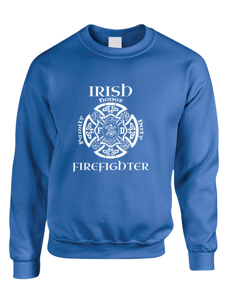 Adult Sweatshirt Irish Firefighter St Patrick's Top Irish Party - ALLNTRENDSHOP - 4