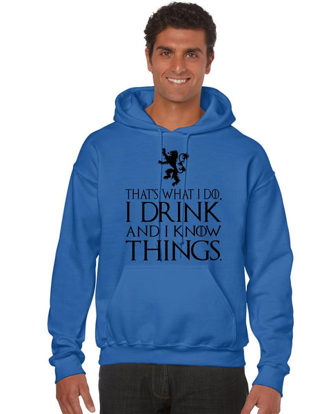 That What I Do I Drink And I Know Things men Hoodie - ALLNTRENDSHOP - 7