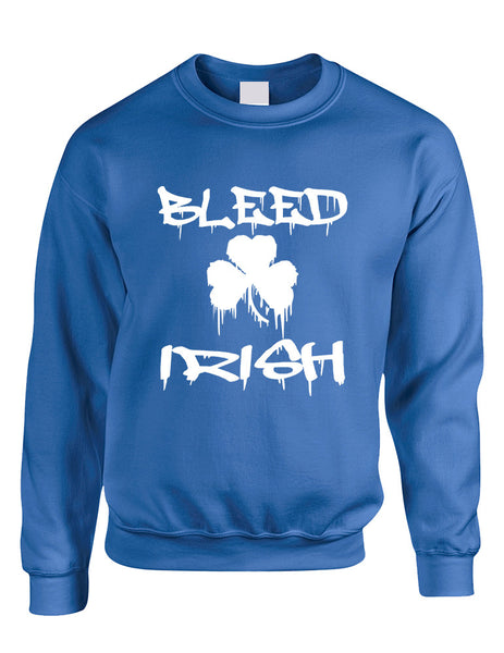 Adult Sweatshirt Bleed Irish St Patrick's Day Party Irish Top - ALLNTRENDSHOP - 3