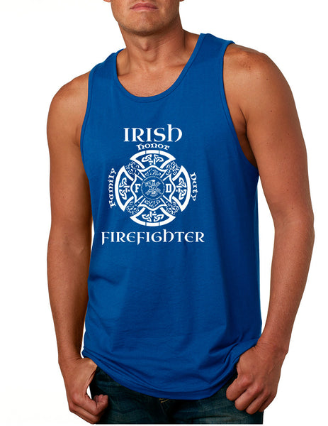 Men's Tank Top Irish Firefighter St Patrick's Patry Irish Top - ALLNTRENDSHOP - 3